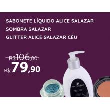 Kit Alice Salazar - Sombra Salazar + Sabonete Demaquilante + Glitter Céu